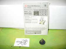 Axis & Allies 1939-1945 Type 89 Mortar with card 57/60