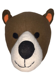 """Target Pillowfort 12"""" Plush Bear Head Kids Wall Decor Hanging Mount Animal NWOT"""