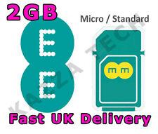 EE 4G PAYG 30 giorno Internet SIM CARD CON 2GB di dati gratuiti pre-caricato 3G Combi