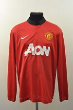 MANCHESTER UNITED 2012 2013 home long sleeve football shirt jersey L LARGE