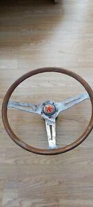Classic Escort Anglia Cortina Lotus Wood Rimmed Steering Wheel