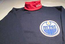 Edmonton Houston Oilers Turtle Neck Sweatshirt Medium Red Collar Majestic NHL