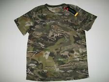 UNDER ARMOUR Early Season HUNTING Forest CAMO Short Sleeve SHIRT Mens Sz 2XL NEW