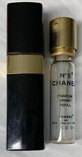 Vintage Chanel No. 5 Eau de Toilette Spray Empty Refill + Black Case