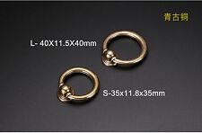 VTG Ring Round Cabinet Pull Knobs Cupboard Wardrobe Door Drawer Hardware Handle