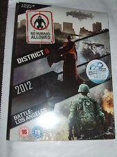 2012 / Battle: Los Angeles / District 9 (DVD, 2011, 3-Disc Set) DVD NEW & SEALED