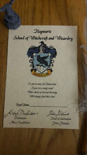 Harry Potter Sorting House RAVENCLAW Certificate Gift Hogwarts Personalised