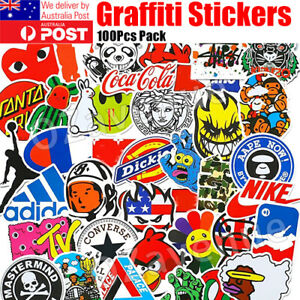 100 Random Vinyl Decal Graffiti Sticker Bomb Laptop Waterproof Stickers Skate