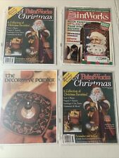 DIY Arts & Crafts Paintworks Lot of 4 Tole Painting Christmas Patterns