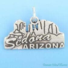 SEDONA ARIZONA RED ROCK COUNTRY .925 Solid Sterling Silver Charm Pendant