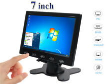 "Ultra Thin 7"" HD 800x480 TFT LCD Monitor AV/VGA/HDMI Input w/Speaker + Adpater"