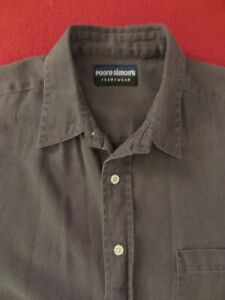Poore Simon's Jeanswear Men's Short Sleeve Button Down Shirt - S