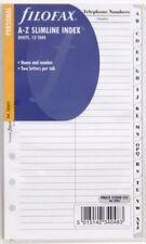 Filofax Einlage Personal: Register Slimline A-Z Name/Nummer 131653