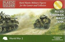 Plastic Soldier 1/72 M4A2 Sherman Tank (3 Fast Assembly Tanks)