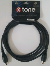 Midi Cable - 3 Meters (10ft) X-Tone Black 5-pin
