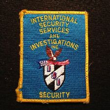 ISI International Security Services & Investigations Patch / Police