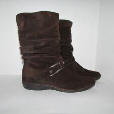 Stuart Weitzman Spain Ingot Suede Shearling Boots Brown Size 7,5 M