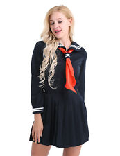 Women's Lingerie School Girl Uniform Student sailor Cosplay Costume Fancy Dress