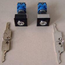 Schlüsselschalter Vollmetall 1xEin//Aus incl 2x Schlüssel Typ NS30 bis 150V 3A