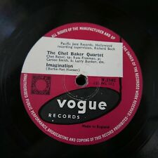 78rpm CHET BAKER QUARTET imagination / maid in mexico Vogue 2162