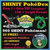Complete SHINY Living Dex ✨  960 Pokemons!  ✨ Pokemon Home ✨FASTEST & BEST 🚀