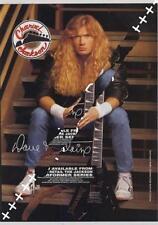 Megadeth Mustaine UK 'Guitarist' Trade Press advert OBLIQUE