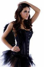Women's Costume Corsage + Wings +Skirt Halloween Black Angel Laundry Bags