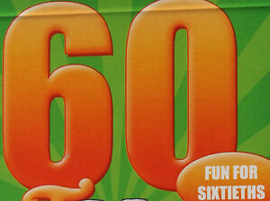 Popular 60th Birthday Gift:   Amusing little gift extra, specially for 60ths
