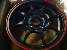 "4x BLACK 15"" SPRINT SW96 ALLOY WHEELS 4X114 96 SPEC INTEGRA TYPE R DC2 MB6 SWIFT"