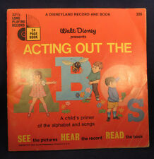 Walt Disney Presents Acting Out The ABC's Disneyland Book & Record 1968