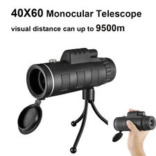 9500m 40X60 BAK4 Monocular Telescope Outdoor Hunting Scope w/ Phone Clip Tripod