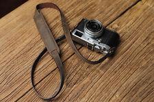 Handmade Retro Brown Leather Neck Shoulder Belt Strap Sling for Leica Sony Fuji