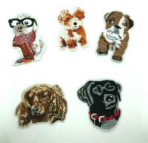 dog  Patches Embroidered Badge Applique Dog Puppy iron/sew on  Fast Ship