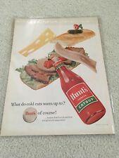 Vintage 1958 Hunts Ketchup Ad