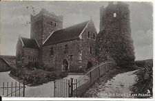 LOVELY VERY EARLY VINTAGE POSTCARD,OLD CHURCH AND PHAROS,DOVER,KENT,1904