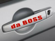 2 da BOSS Door Handle Racing Sport Decal sticker Red Logo *12 Colors* B08