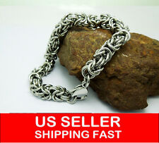 MEN'S JEWELRY CABLE ROPE CHAIN Stainless Steel Link Bracelet Fit Wrist NEW 334
