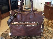 Incredible Anthropology 3rd Floor Rivet Bag Italy Distressed Purse