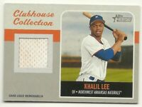2019 Topps Heritage Minor League KHALIL LEE Clubhouse Jersey Relic Naturals