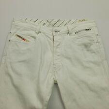Diesel PADDOM Mens STRETCH Jeans W34 L33 White Slim Straight Mid Rise