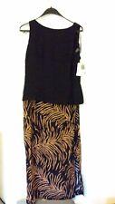 14 NWT RJ & Co Black & Dark Tan fun & flirty dress was $88