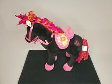 Groovy Girls Black Horse with Saddle made by  The Manhattan Toy Company in EUC