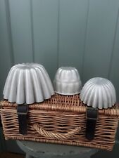 Vintage Set Of 3 Large Jelly Moulds Aluminium Helpmate Medium/Large