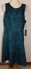 New Jennifer Lopez 24W Dress Sleeveless Snakeskin Ponte Flared A-Line Skirt JLO