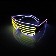 Pink & Yellow glasses Neon wire EL LED Shutter party rave disco club Activities