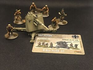 Warlord Games Bolt Action German 88mm Gun Flak 37 DAK Pro Painted
