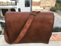 Men's Genuine Vintage Leather Satchel Messenger Handbags Laptop Briefcase Bag