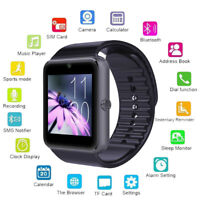 Unisex GT08 Bluetooth GSM Smart Wrist Watch Camera Text Call Mic for Android iOS