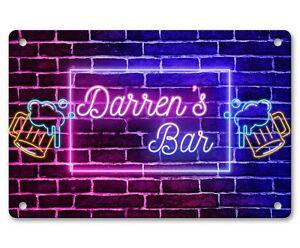Personalised Bar Sign Any Name Garden Plaque Gift Bar Pub Backyard Bar Sign 172