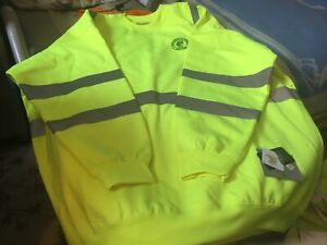 Utility Pro Wear  relco High-Vis Soft Shell Teflon Fabric Protector new